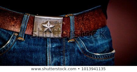 soviet army Buckle with star. Belt Russian soldier. Military acc Stock photo © popaukropa