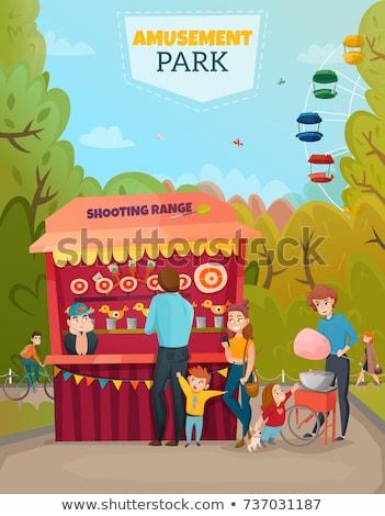 遊園地 · デザイン · ライディング · 回転木馬 · 家族 · 休日 - ストックフォト © jossdiim