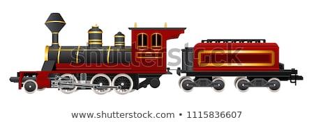 speelgoed · stoom · motor · oude · Rood - stockfoto © manfredxy