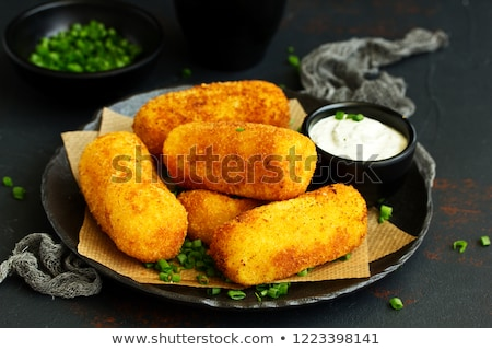 Homemade potato croquettes Stock photo © Peteer