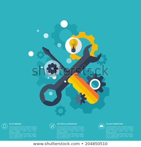 Karbantartás javítás szolgáltatások ikon terv izolált Stock fotó © WaD