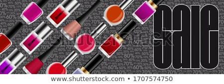 Körömlakk profi üveg nők szög üres Stock fotó © robuart