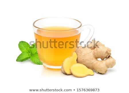 jengibre · té · limón · mesa · de · madera · beber · taza - foto stock © digifoodstock