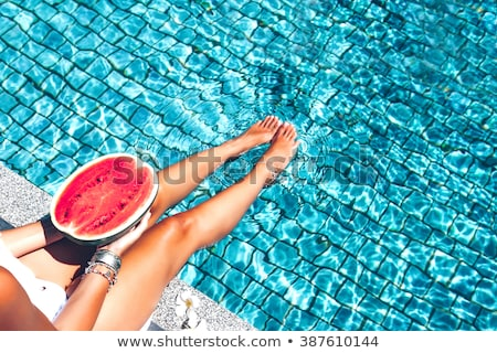 bikini and watermelon stock photo © fisher