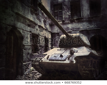 Model of soviet old T-34 tank Stock photo © Aikon