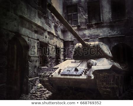 model of soviet old t 34 tank stock photo © aikon