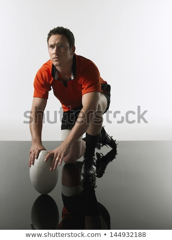 Retrato masculino jogador em pé preto Foto stock © wavebreak_media