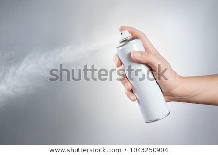 aerosol · pueden · aislado · blanco · reflexión - foto stock © maryvalery