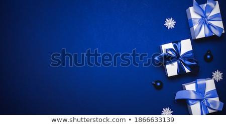 Рождества лазурный снега bokeh зима Новый год Сток-фото © romvo