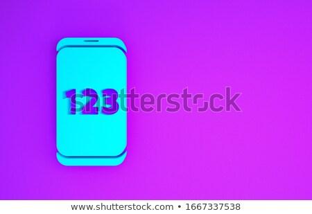 blue application button on keyboard 3d render stock photo © tashatuvango