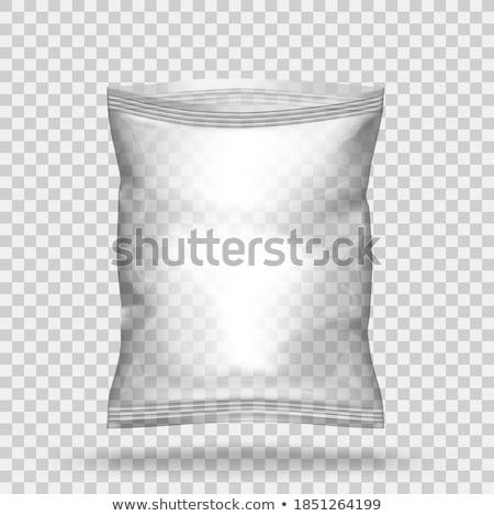 White Blank Foil Food Snack Sachet Bag Stock photo © frescomovie