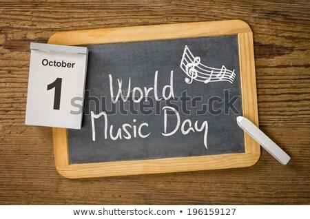 1 october International Music Day Stock photo © Olena