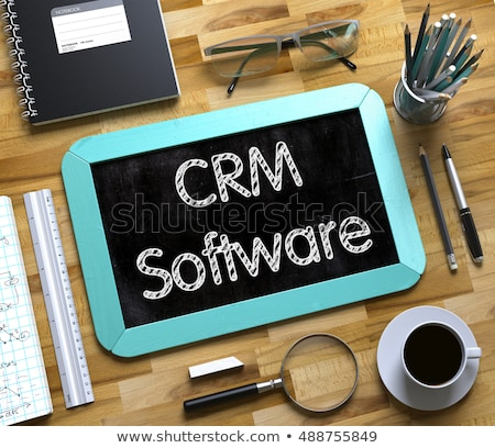 Klein schoolbord crm software 3D business Stockfoto © tashatuvango