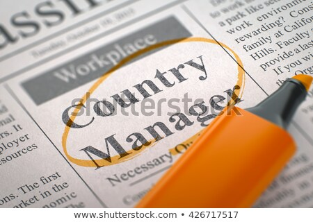 Global Business Development Manager Wanted. 3D. Stock photo © tashatuvango