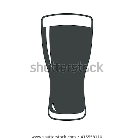 silhouette glass of beer and barley  Stock photo © Olena