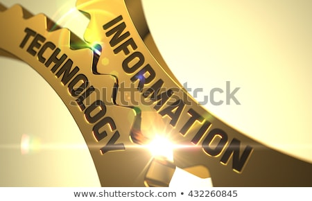 Internet Technology Concept. Golden Metallic Cogwheels. Stock photo © tashatuvango