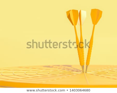 Business Wettbewerb Darts 3D Rendering groß Stock foto © alphaspirit