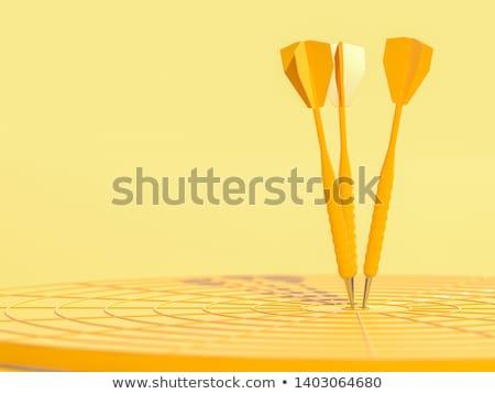 Negócio competição dardos 3D grande Foto stock © alphaspirit