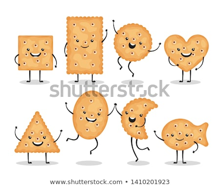 vector set of cracker chips Stock photo © freesoulproduction