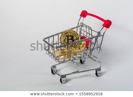 Bitcoin symbol faktyczny ceny odizolowany biały Zdjęcia stock © orensila