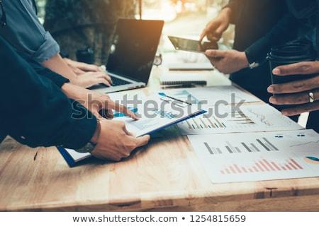 деловое · совещание · женщину · служба · человека · таблице · костюм - Сток-фото © IS2