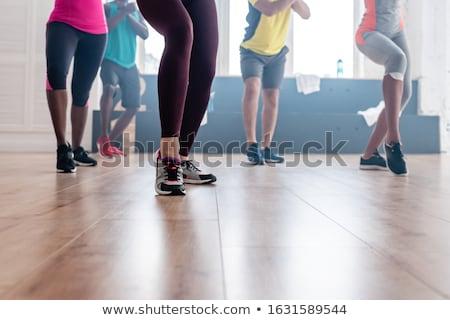 piernas · jóvenes · bailarina · muchos · stand - foto stock © lightfieldstudios