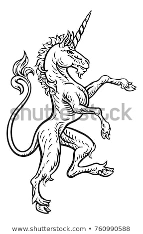 Image of the heraldic unicorn Stock photo © Genestro