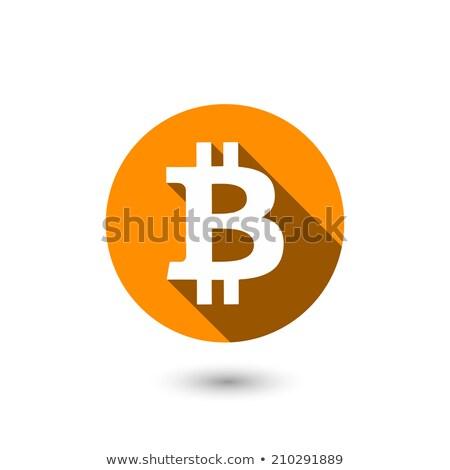 bitcoin symbol with long shadow vector Stock photo © SArts