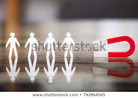 Red Horseshoe Magnet Attracting Paper Cut Out Stock photo © AndreyPopov