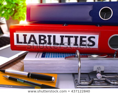 Stock photo: Red Office Folder with Inscription Liabilities.