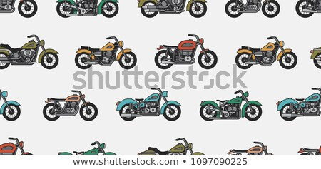 モータ 古い スタイル バイク ストックフォト © studioworkstock