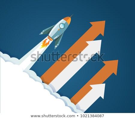Innovatieve raket hemel illustratie ontwerp grafische Stockfoto © alexmillos
