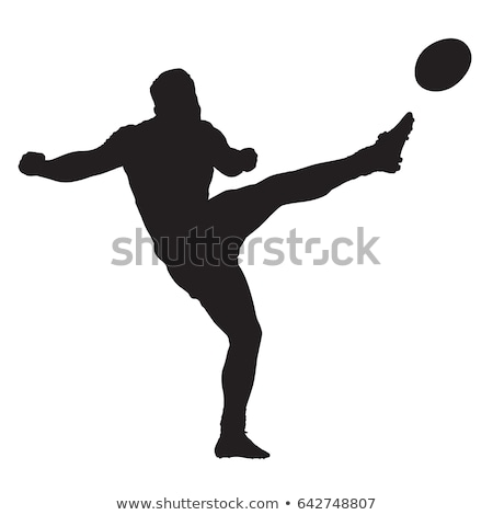 Rugby player kicking ball Stock photo © IS2