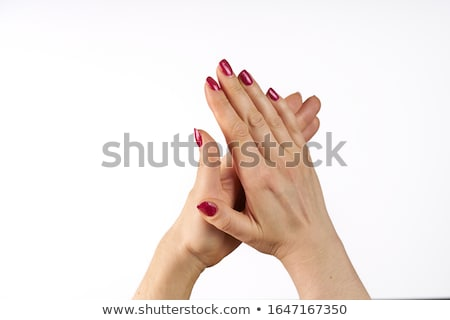 women clapping hands applause isolated on white background stock photo © eddows_arunothai