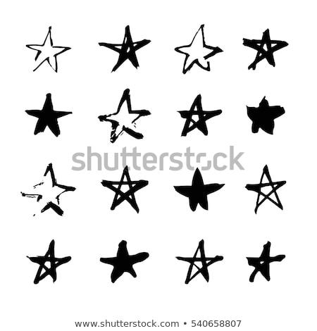 Kézzel rajzolt csillag forma illusztráció vektor monokróm Stock fotó © TRIKONA