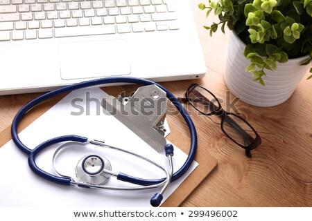 Orvosi tárgyak billentyűzet fehér copy space Stock fotó © Lana_M