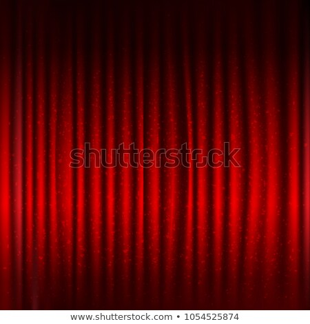 Red Stage Curtain With Black Border And Glitter Stock photo © adamson