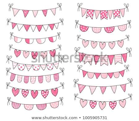 Cute Doodle Buntings For Baby Shower And Birthday Parties Stockfoto © Pravokrugulnik