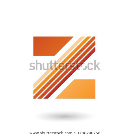 Stock photo: Orange Letter Z with Thick Diagonal Stripes Vector Illustration