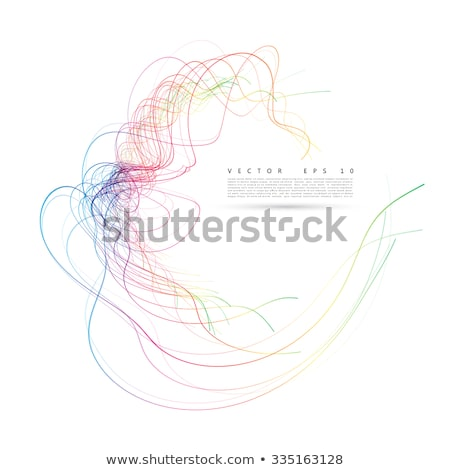 Red Abstract Wind and Twister Shape Vector Illustration Stock photo © cidepix