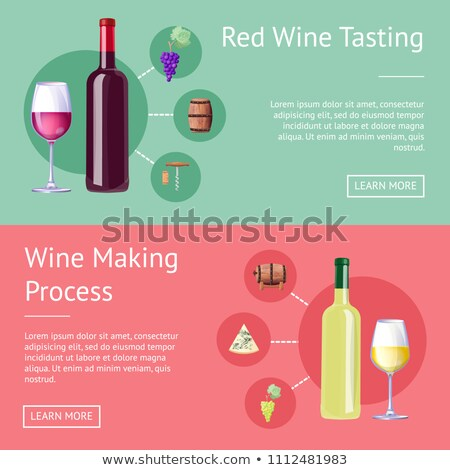 Red Wine Tasting and Making Process Promo Banners Stock photo © robuart