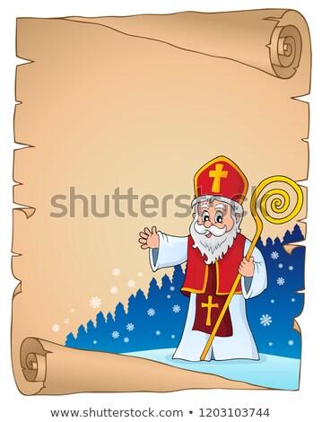 Saint Nicholas topic parchment 2 Stock photo © clairev