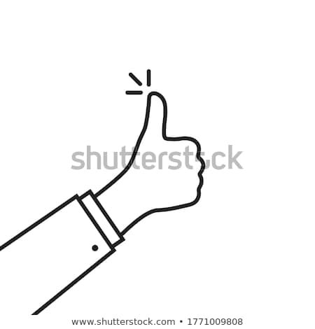 True line icon on a white background Stock photo © Imaagio