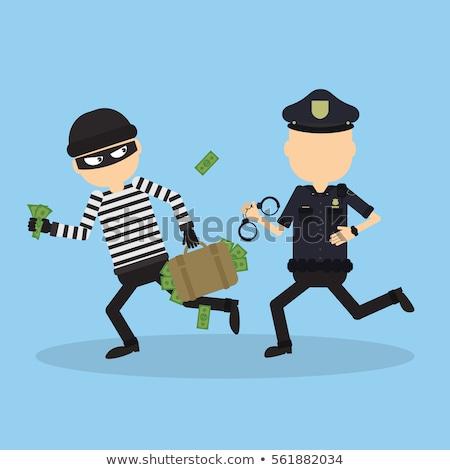 rajz · mérges · tolvaj · férfi · néz - stock fotó © cthoman
