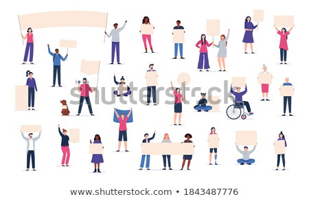 Pessoas greve em torno de mundo ilustração criança Foto stock © colematt