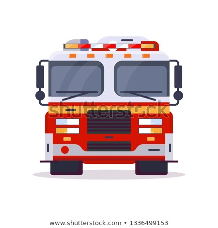 fire department   modern line design style vector illustration stock photo © decorwithme