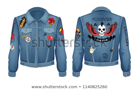 Rock and Roll Forever Prints Set on Denim Wear Stock photo © robuart