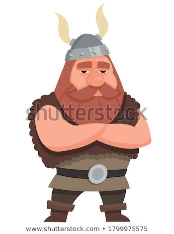 Cartoon Barbarian Arms Crossed Stock photo © cthoman