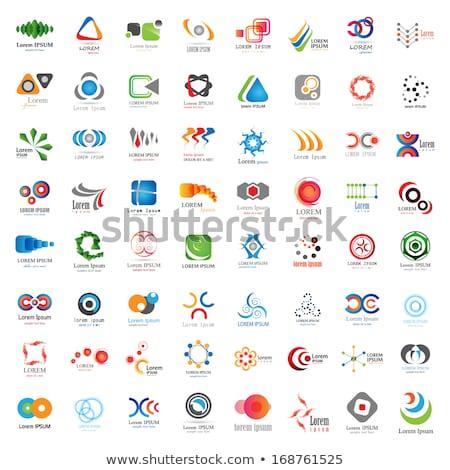 Groene atoom cirkel logo vector icon Stockfoto © blaskorizov