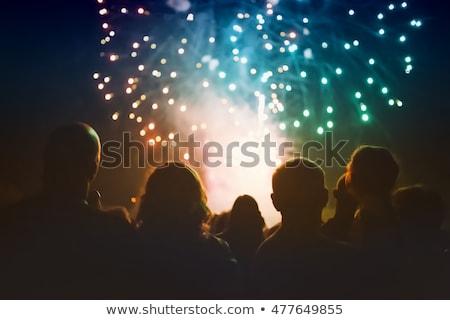 Foto d'archivio: Persone · guardare · fuochi · d'artificio · capodanno · vacanze · vacanze